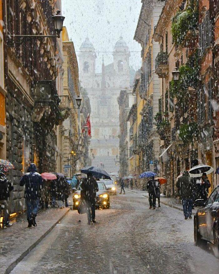Foto Di Roma Coperta Di Neve 2018