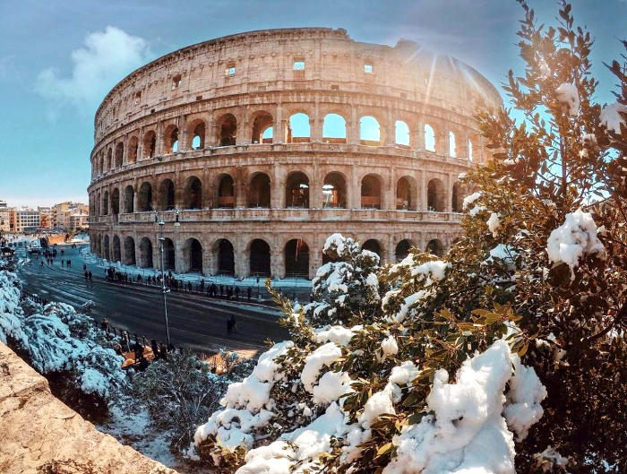Bellissime foto di Roma ricoperta dalla neve