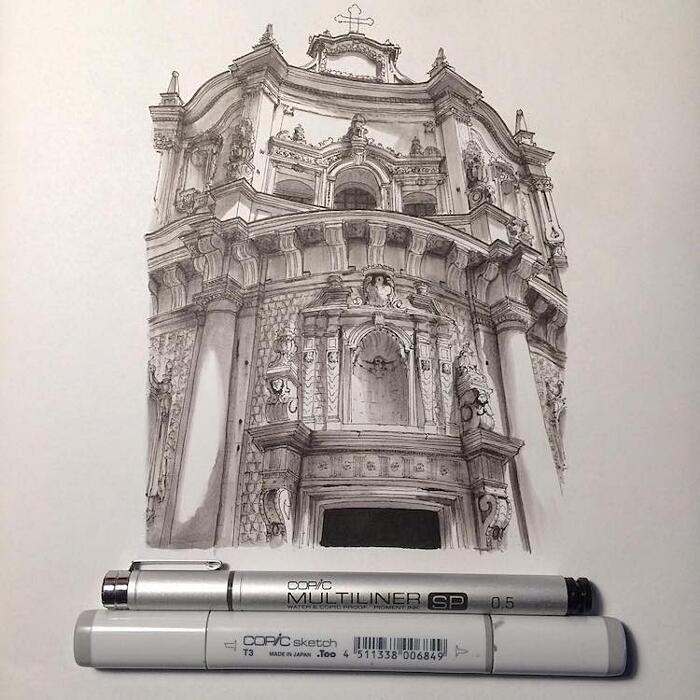 Schizzi Architettura Monumenti Europei Lorenzo Concas