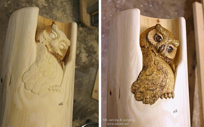 Sculture Animali Legno Mori Kono