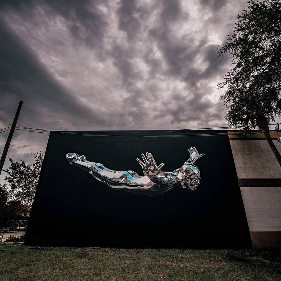 Street Art Murale Cromato Bikismo
