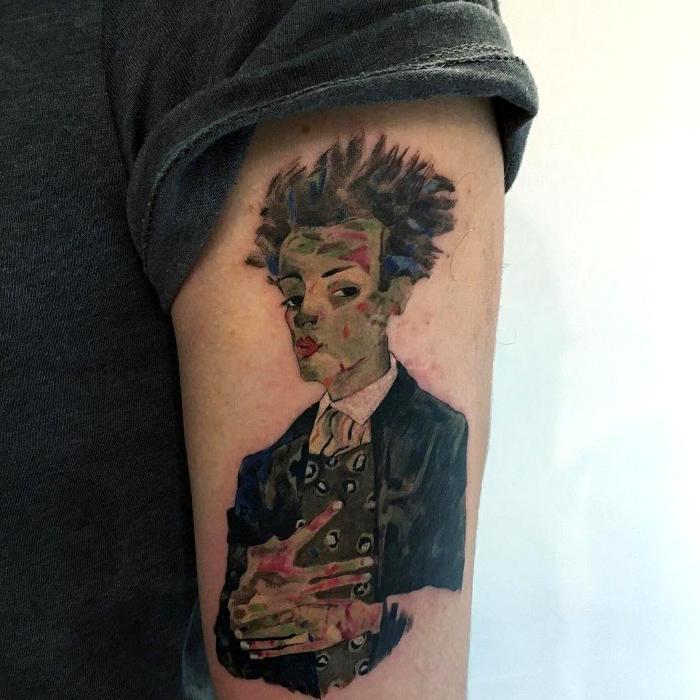 Tatuaggi Ispirati Ad Opere D'Arte Egon Schiele