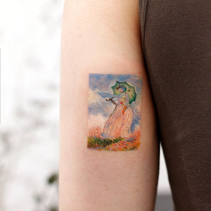 Tatuaggi Ispirati Ad Opere D'Arte Claude Monet
