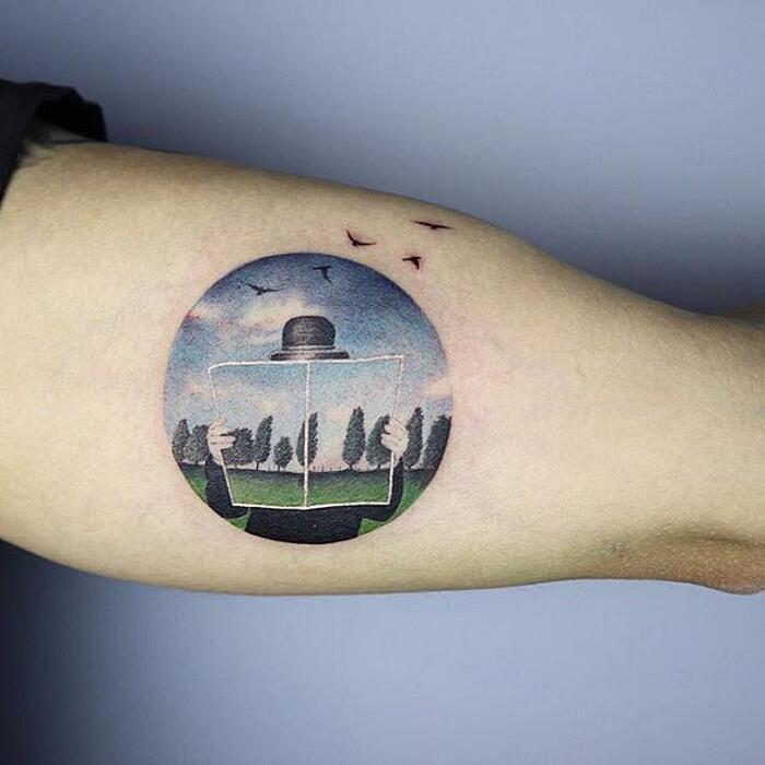 Tatuaggi Ispirati Ad Opere D'Arte René Magritte