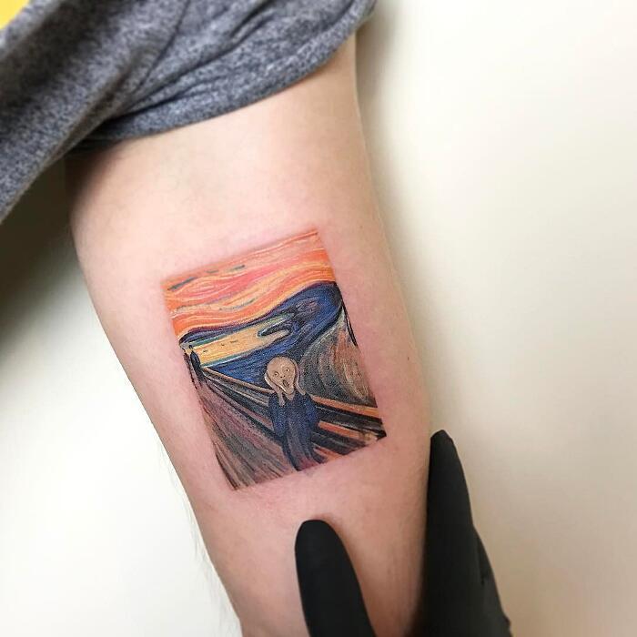 Tatuaggi Ispirati Ad Opere D'Arte Edvard Munch