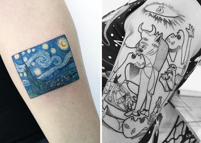 28 tatuaggi ispirati a grandi opere d'arte