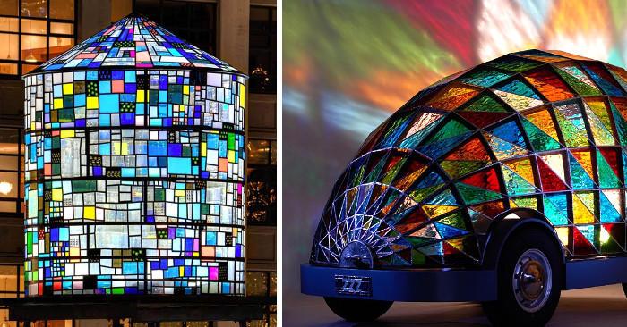 8 artisti contemporanei ridefiniscono l'antica arte delle vetrate