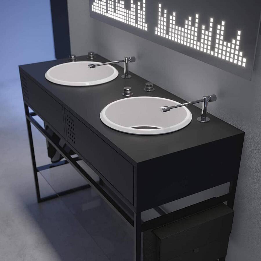 Bagni dal design originale e moderno si ispirano alla for Moderno bagno ranch