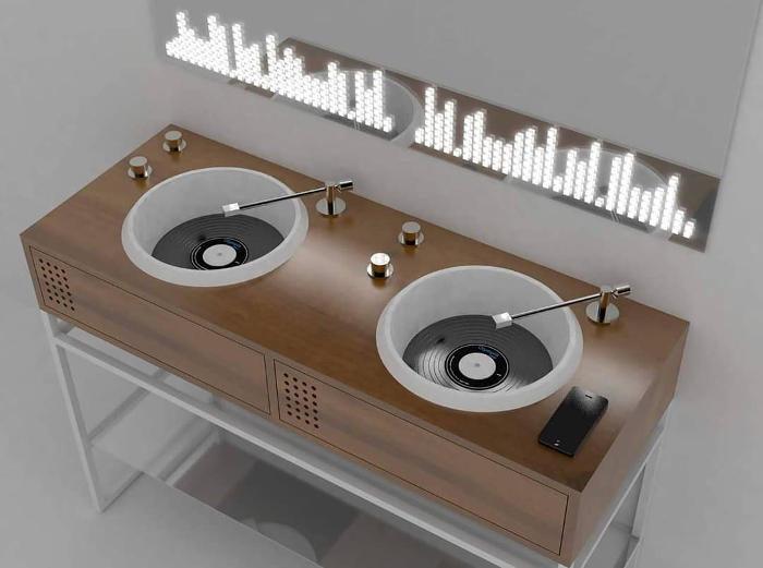 Bagni dal design originale e moderno si ispirano alla console da DJ