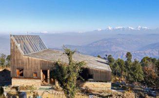 Una casa vacanza Zen con vista sull'Himalaya in India