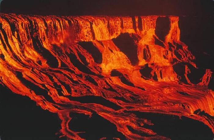 L'eruzione del vulcano Mauna Ulu, Hawaii