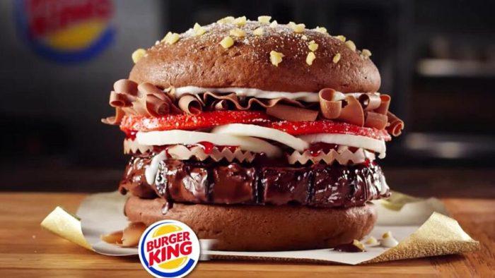 Burger King immagina un hamburger al cioccolato