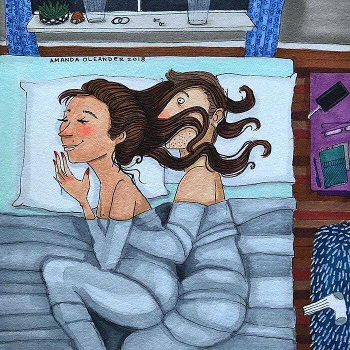 Artista illustra i lati più intimi ed incomprensibili dell'amore