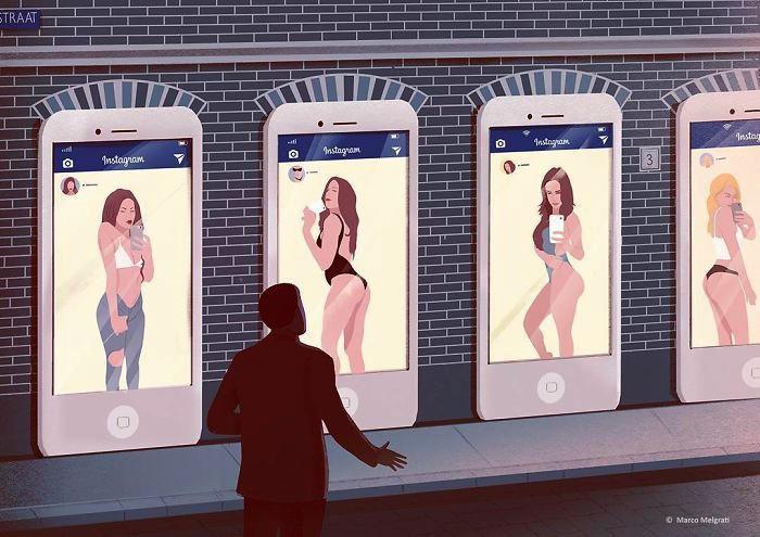 Illustrazioni raccontano una triste verità sulla società moderna