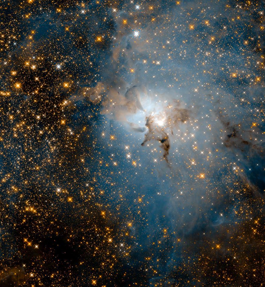 Immagini Telescopio Hubble Nebulosa Laguna Ad Infrarossi
