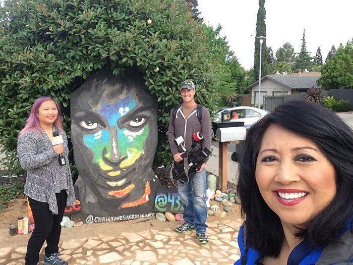 Murale Omaggio A Prince Street Art California Christine Stein