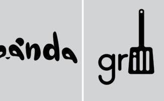 Designer crea un logo al giorno per un anno, utilizzando semplici parole