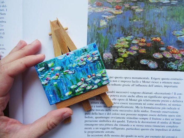Quadri famosi in miniatura, le piccole tele di Ilaria Lafronza