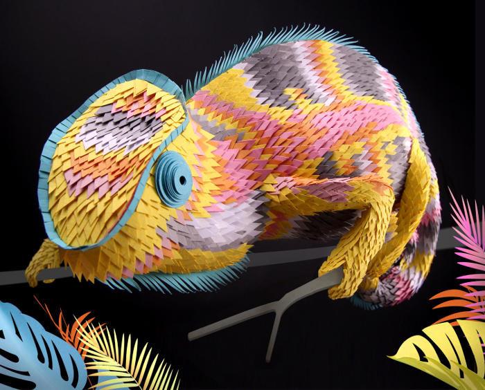 Vibranti sculture di carta che traggono ispirazione dalla natura