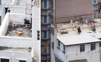 La vita sui tetti di Hong Kong catturata da Romain Jacquet-Lagrèze