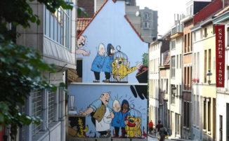 A Bruxelles c'è un intero percorso di street art dedicato al fumetto