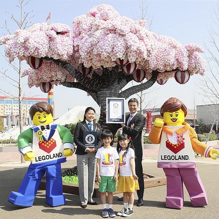 Albero Di Ciliegio Fatto Di Lego Legoland Giappone