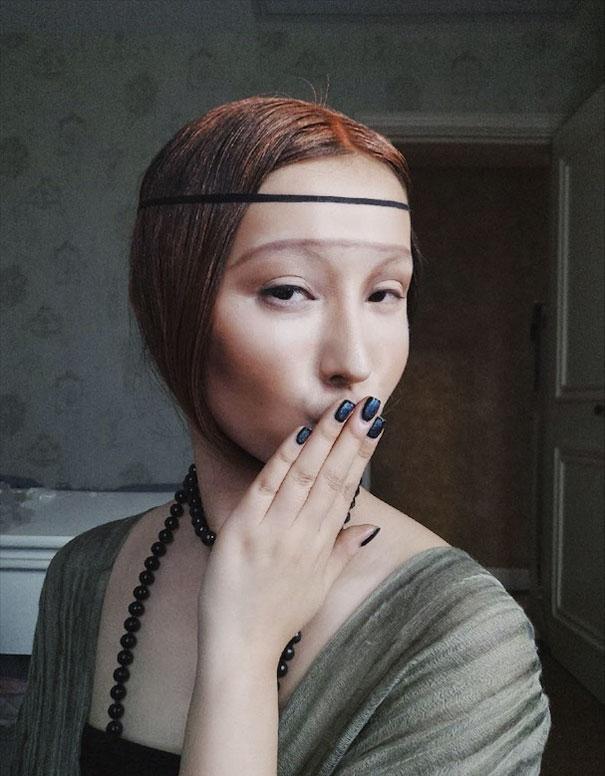 Make Up Dama Con Ermellino He Yuhong Cina
