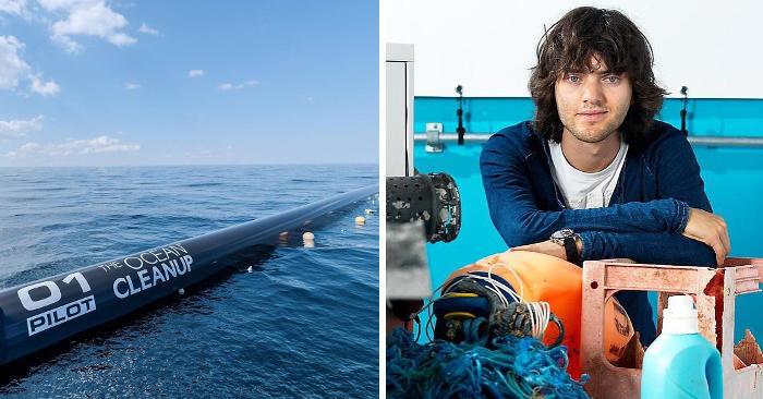 Questo ragazzo ha ideato un piano per rimuovere tutta la plastica dagli oceani entro il 2050