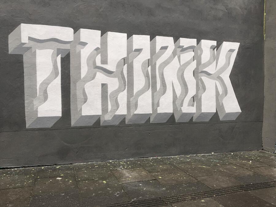 Font e lettere tridimensionali nella street art di Pref