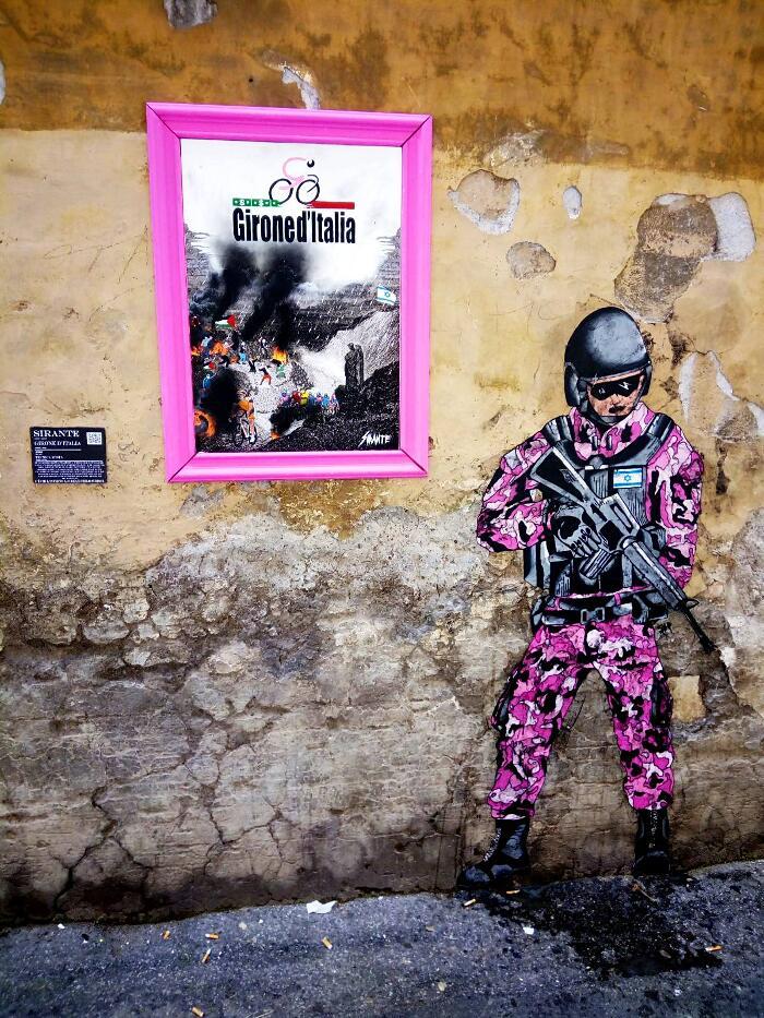 Girone d'Italia di Sirante, contro la politica di Israele