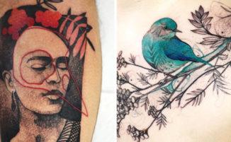 Tatuaggi originali che si tingono di colori insoliti