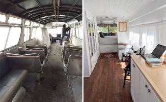 Converte un vecchio autobus in una casa mobile e il risultato è davvero entusismante