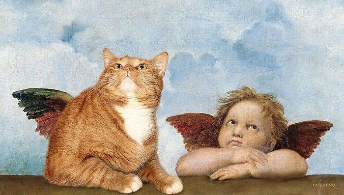 Fotomontaggi Digitali Gatto In Dipinti Famosi Svetlana Petrova