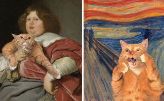 Inserisce il suo gatto in dipinti famosi ed il risultato è esilarante