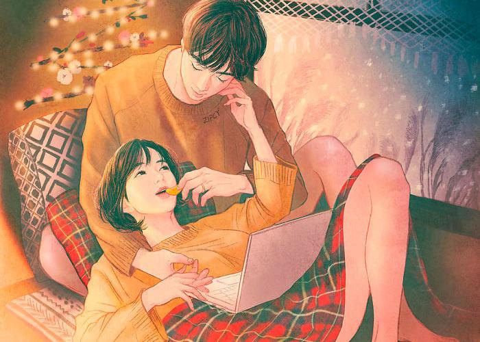 L'amore e l'intimità di coppia illustrati da un artista coreano