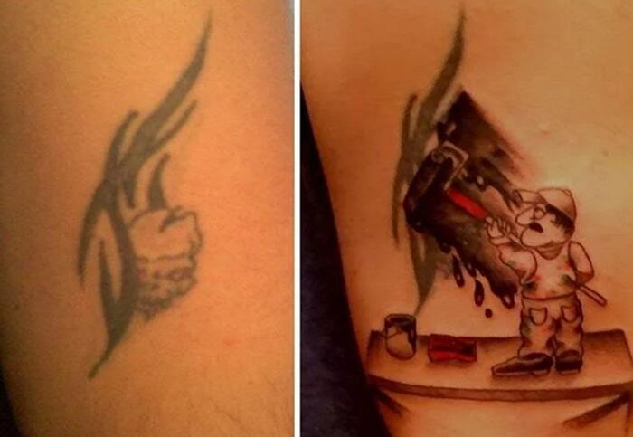 Modificare un tatuaggio fatto male per correggere e restyling