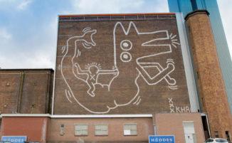 Murale di Keith Haring nscosto per 30 anni torna alla luce, ad Amsterdam