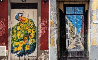 Viaggio a Madera: le porte dipinte di Funchal trasformano la città in un museo a cielo aperto