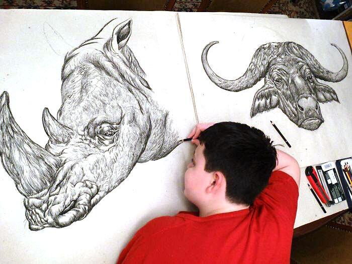 Ragazzo Prodigio Disegna Animali Dušan Krtolica