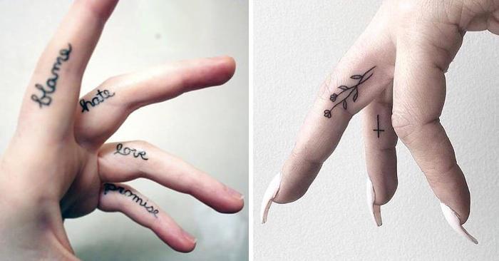 50 esempi di tatuaggi per le dita davvero stilosi