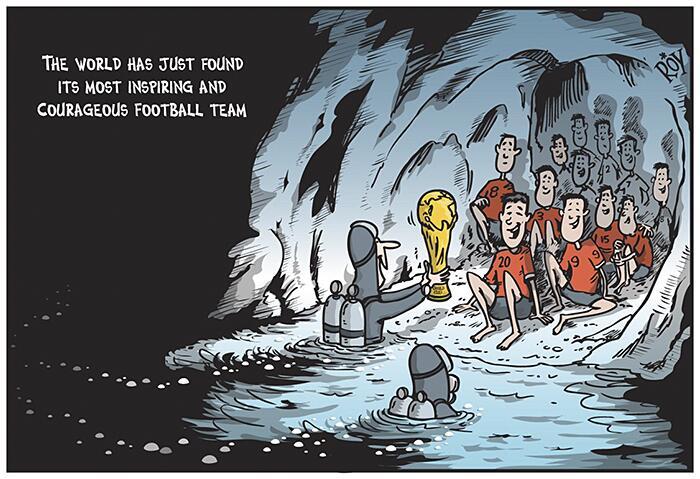 Omaggio Artisti Ragazzi Intrappolati Grotta Thailandia