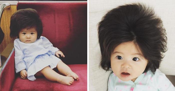 Questa bambina giapponese ha 6 mesi e i capelli più folti della maggior parte di noi