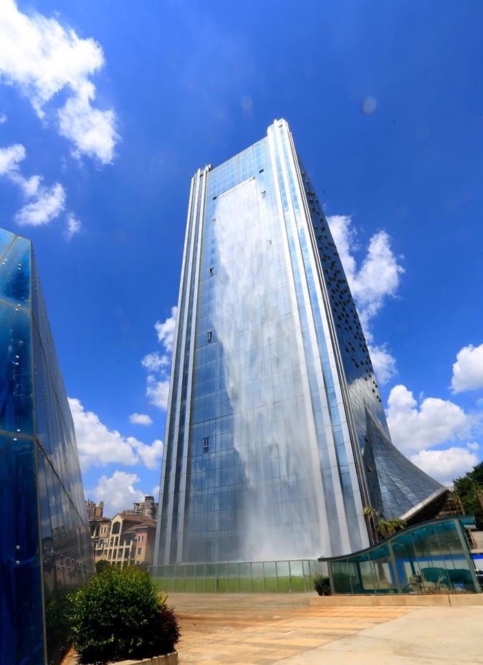 Cascata Artificiale Grattacielo Guiyang Cina