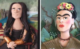 Artista ricrea dipinti famosi con argilla polimerica
