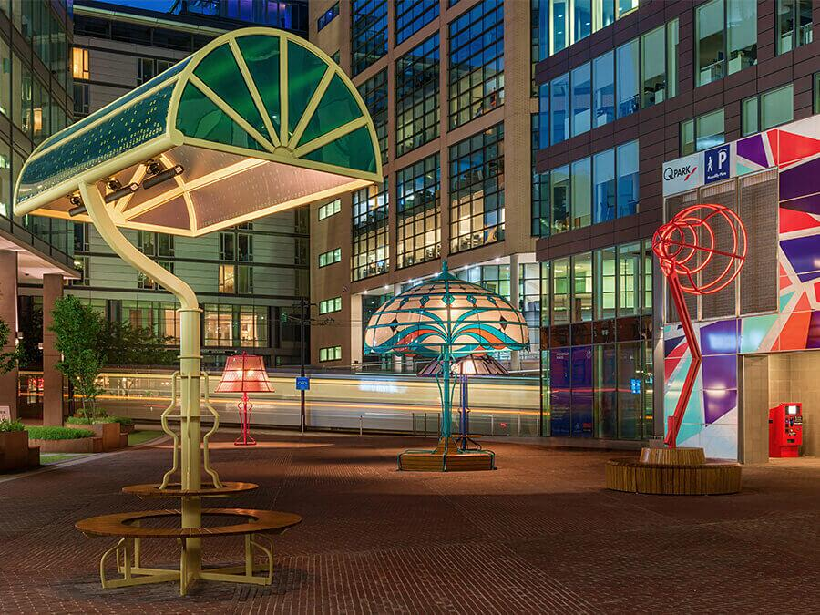 Installazione Artistica Lampade Manchester Acrylicize