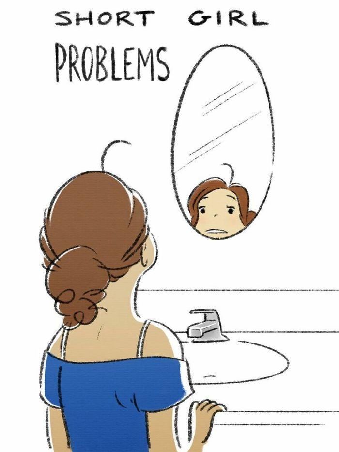 Problemi Ragazze Alte E Basse Illustrazioni Sara Pocock