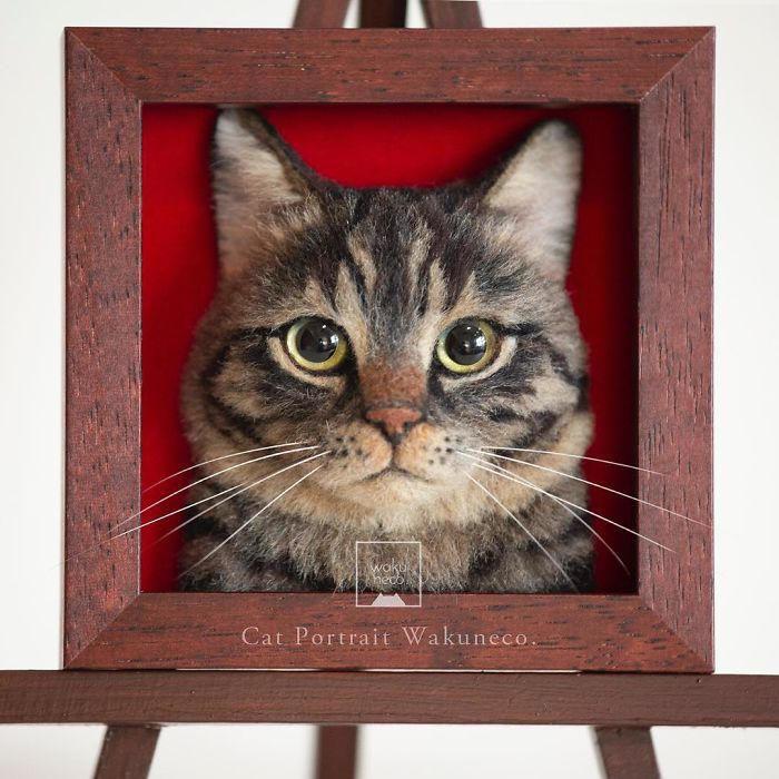 Artista crea gatti iperrealistici usando lana infeltrita ed il risultato è incredibile