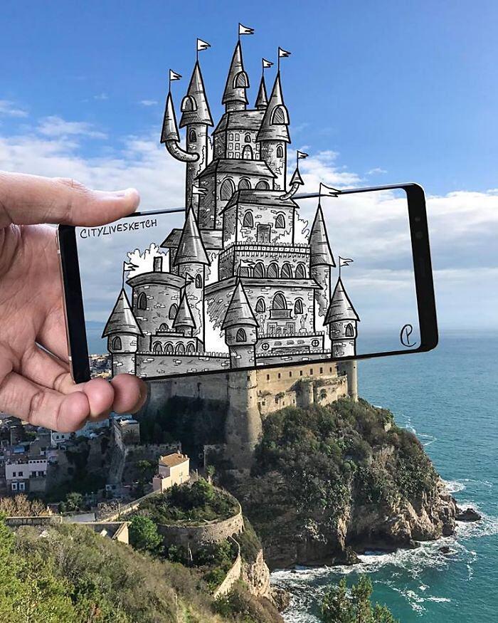 Disegni Monumenti Famosi 3D Pietro Cataudella
