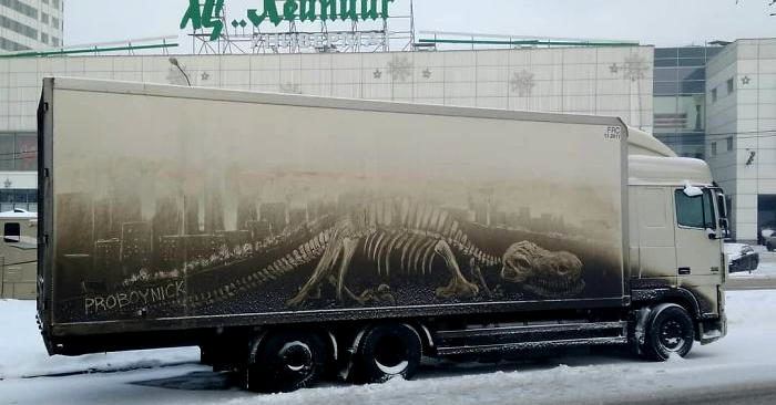 Auto e camion sporchi