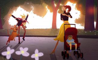 Artista illustra i dolci e commoventi ricordi dell'infanzia